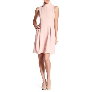 Eliza J Sleeveless Kennedy Roll Neck Dress - Blush